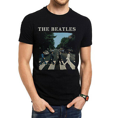 The Beatles Abbey Road + Logo T-Shirt - Large