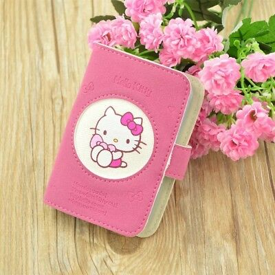 Hello kitty Soft Leather Card Case Cute Pink ID Card Cover Holder