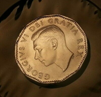 Canada 5 Cents 1952 Missing Chrome Ms