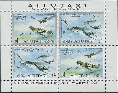 Aitutaki 1995 SG686-687 End of WWII sheetlet MNH