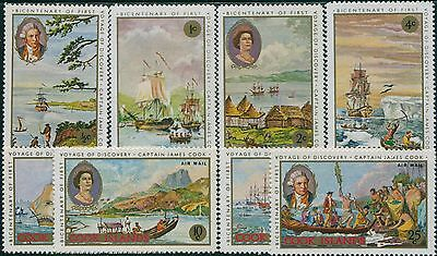 Cook Islands 1968 SG269-276 Cook's 1st Voyage set MLH