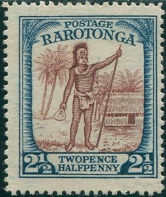 Cook Islands 1924 SG83 2½d Raratongan Chief FU