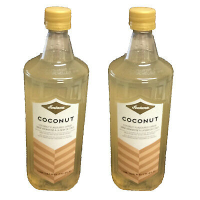 New Lot of 2 Starbucks Fontana Coconut Coffee & Beverage Flavored Syrup 2 Liter
