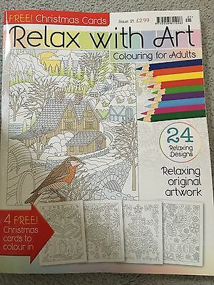 Relax with art colouring for adults christmas edition