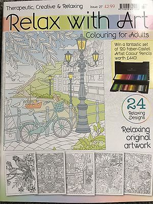 Relax with art colouring book for adults