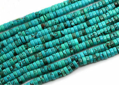 """16"""" Natural Turquoise Gemstone Heishi Beads Spacer 3mm 4mm 6mm 8mm 10mm 12mm"""