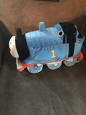Thomas Tank Engine #1 Blue Plush Cuddle Pillow Cushion Large Soft Stuffed 14""