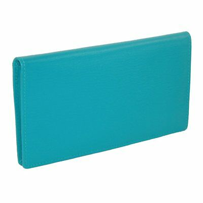 New MTL Women's Leather Basic Checkbook Cover in Fashion Colors