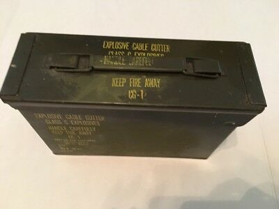 Ammo Can Box Army Military Metal Storage  Green