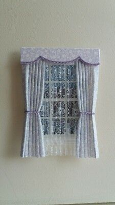 Dolls House Curtains Lilac Floral In Laura Ashley Fabric