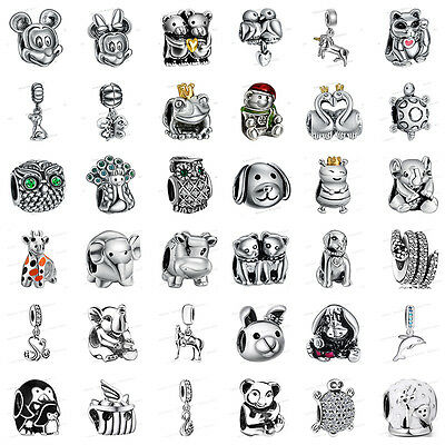 925 European Sterling Animals Silver Charms Bead for Bracelet Chain Necklace ca9