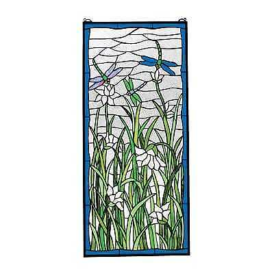 Design Toscano Design Toscano TF9598 Dragonflies Dance Stained Glass Window