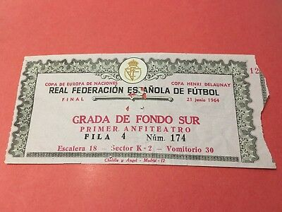 Entrada Ticket 1964 European Cup Nations Final Spain Ussr Union Soviet Russia