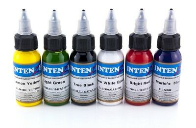 Intenze Ink Profi Tattoofarben Set Tattoo Farben Tätowierfarben Color Tinte SWO