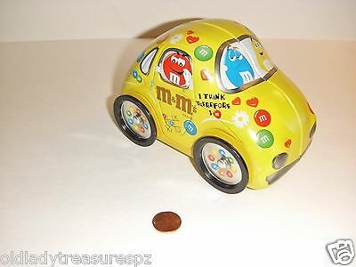 MM&M's Collectible Volkswagen Bug Car - Empty Candy Tin