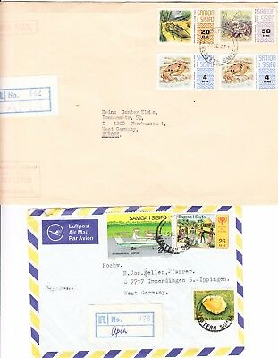 Samoa - 2 registered covers to West Germany