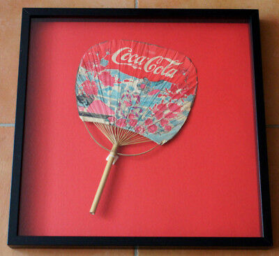 Coca Cola Chinese Style Hand Fan 1900-1912 (framed)