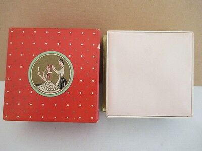 Vintage RICHARD HUDNUT Three Flowers Face Powder Box Full Unopened