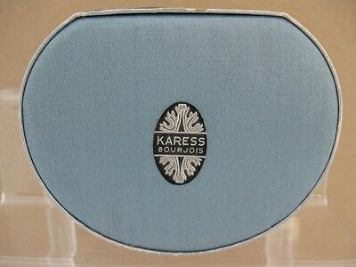 Vintage BOURJOIS Karess Powder Box with Satin top and Nice Label
