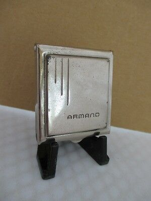 Vintage ARMAND White Metal Pressed Powder Compact
