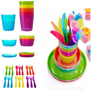 ikea kalas baby kids plastic cutlery cups plates bowls. Black Bedroom Furniture Sets. Home Design Ideas