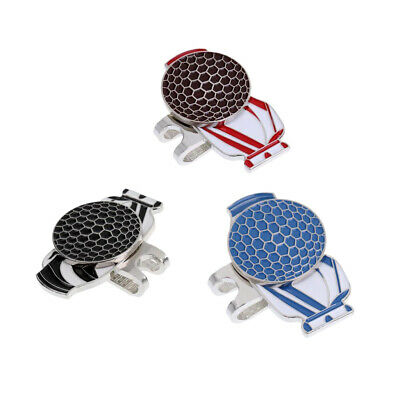 3Pcs Golf Bag Pattern Magnetic Hat Clip with Golf Ball Marker Golf Accessory