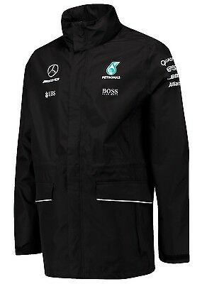 2017 OFFICIAL F1 Mercedes AMG Petronas Team Rain Jacket Coat BLACK – NEW