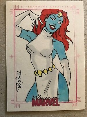 Women Of Marvel: Sketch Card: Mystique By Tess Fowler #3