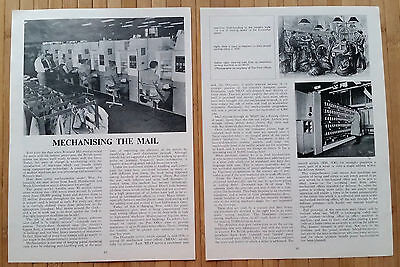 (2246) Mechanising Royal Mail Postcodes Doncaster Centre - 1977 Magazine Article