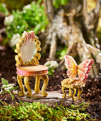 My Fairy Gardens Mini - Fairy Vanity and Chair Set - Supplies Accessories