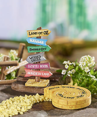 Fairy Garden Miniature - Wizard of Oz - Directional Sign and Yellow Brick Road