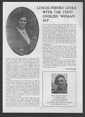 (2280) Margaret Wintringham Liberal MP Grimsby Headmistress  - 1979 Article