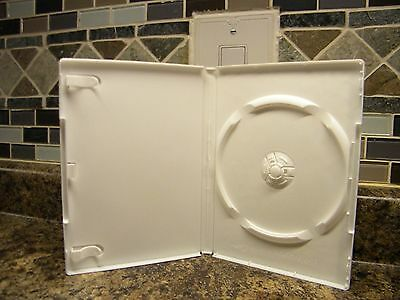 5/$1.00 Generic White Single 14mm DVD CD Media Disc Storage Cases for DVD, CD's
