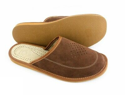 Top Mens Handmade natural leather slippers,mules, sandals 6-13, (Hausschuhe)