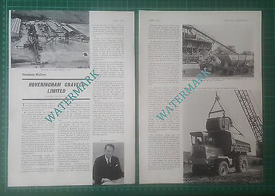 (5568) Hoveringham Gravels Ltd Mr Harold Needler Hull -  1966 Article