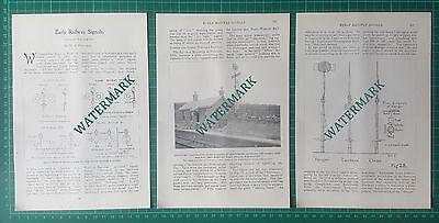 (707) Early Railway Signals Spettisbury Station - 1904 Article