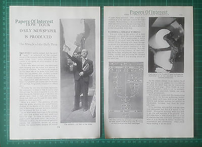 (596) How Newspapers Are Produced  - 1968 Article