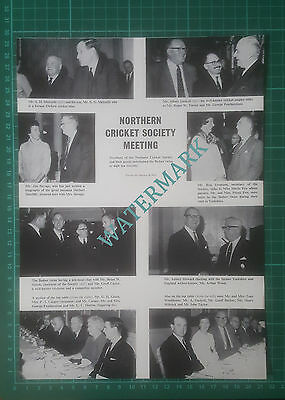 (4699) Northern Cricket Society Meeting Bedser Twins Yeomans Snook - 1966