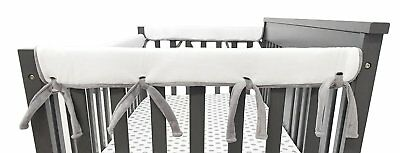 American Baby Company Heavenly Soft Chenille Reversible Rail Covers for Crib