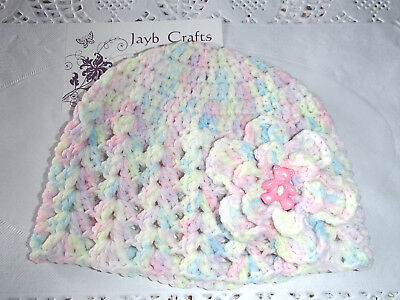 Handmade Crochet Baby Hat  in Patons baby 4 ply H#15