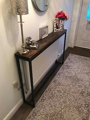 Console Table Reclaimed Furniture Steel Wood Side Table Radiator Cover