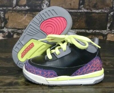 new concept 9c412 00354 Nike Air Jordan III 3 2013 Purple Pink Neon Retro 832033-039 Size