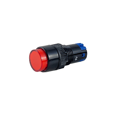 Tesi NELLI JR 12MM LED Pushbutton Momentary Guitar Kill Switch EVH Style Red