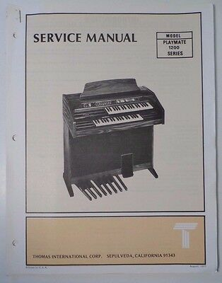 Original Thomas Organ Service Manual Playmate 1200 Series