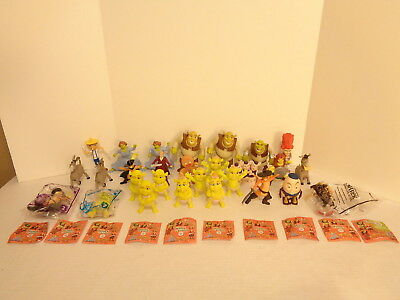 McDonalds Shrek the Thrid Forever After Puss In Boots 28 Happy Meal Toy Lot