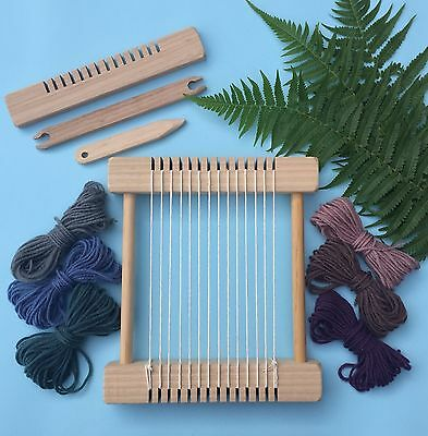 "Weaving Loom Craft Kit -""Little Owl - Natural"" Children's Small Steiner Inspired"