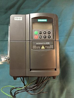 USED SIEMENS MICROMASTER 420 INVERTER DRIVE with BOP 6SE6400-0BP00-0AA0