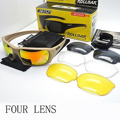 ESS ROLLBAR Glasses Polarized Sunglasses Military Eyewear Interchangeable Lens