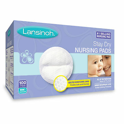 Lightweight Disposable Nursing Pads 100 Ct Breastfeeding Breast Care Baby Infant