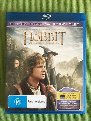 The Hobbit An Unexpected Journey (Blu-ray, DVD, UV, 3-Disc Set) - Free Postage